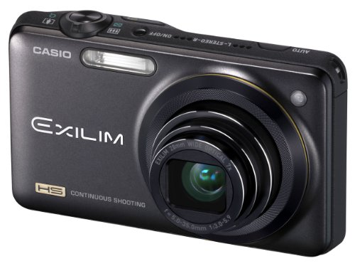 Casio Exilim EX-ZR10 Highspeed-Digitalkamera (12 Megapixel, 7-fach opt, Zoom, 7,6 cm (3 Zoll) Display, bildstabilisiert) schwarz