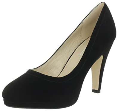 Buffalo London 325103 KID SUEDE 134479, Damen Pumps, Schwarz (BLACK775), EU 37