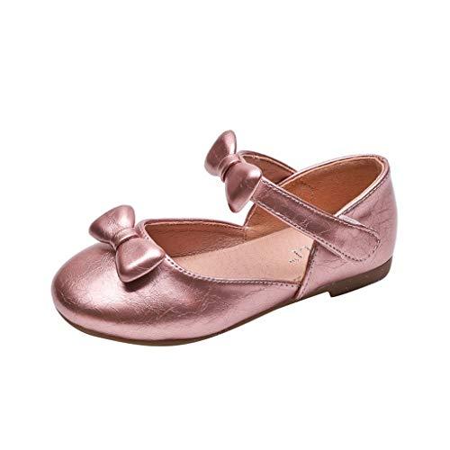 Precioul Kleinkind Schuhe Babyschuhe Mädchen Tanzschuhe Ballerinas Leder Schuhe Mädchen Krabbelschuhe Streifen-beiläufige Wanderschuhe Bow runden Kopf Prinzessin Schuhe -