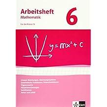 Arbeitshefte Mathematik - Neubearbeitung / Gleichungen, Funktionen, Trigonometrie, Rauminhalte, Sachthemen, Daten/Zufall: Arbeitsheft mit Lösungsheft