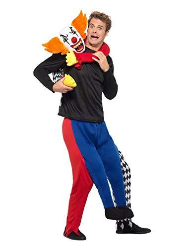 Fancy Ole - Herren Männer Männer Huckepack Piggyback Kidnap Kostüm, Zirkus Clown entführt Dich, Einteiler Overall Jumpsuit, perfekt für Karneval, Fasching und Fastnacht, One Size, Mehrfarbig