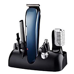 Electric Beard Trimmer,Hair Clipper, 5 in 1 Lithium Powered Grooming Kit, Eyebrow Razor,Multigroom Mustache Shaver, Nose Hair Trimmer and Precision Trimmer,Rechargeable