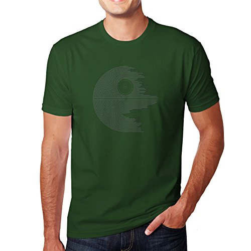 Planet Nerd - Design Star - Herren T-Shirt Flaschengrün