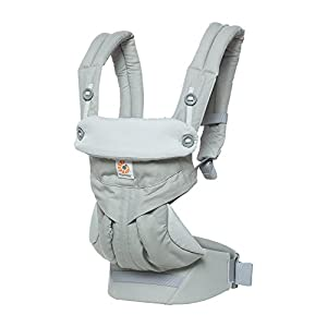 Ergobaby Baby Carrier up to 3 years (12-45 lbs) 360 Pearl Grey, 4 Ergonomic Carry Positions, Front Facing Baby Carrier, Child Carrier Backpack   14
