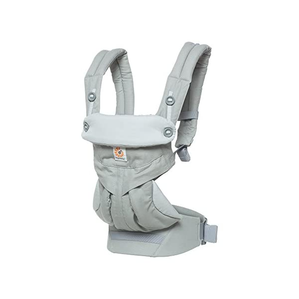 Ergobaby Baby Carrier up to 3 years (12-45 lbs) 360 Pearl Grey, 4 Ergonomic Carry Positions, Front Facing Baby Carrier, Child Carrier Backpack Ergobaby Ergonomic carrier with 4ergonomic carry positions: front-inward, back, hips, and front-outward. New - the waist belt with lumbar support can be worn a little higher or lower to support the lower back and provide optimal comfort, and has adjustable padded shoulder straps. Maximum baby comfort - the structured bucket seat supports the correct frog-leg position for the baby. 1