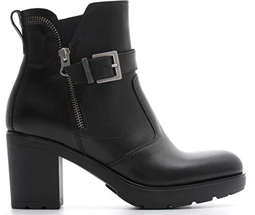 Nero giardini donna tronchetto a807062d nero scarpe in pelle. autunno inverno 2019 eu 36