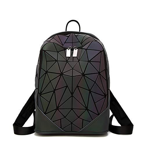 Uyuke Mochila Luminosa Moda Geometría Costura Cubo