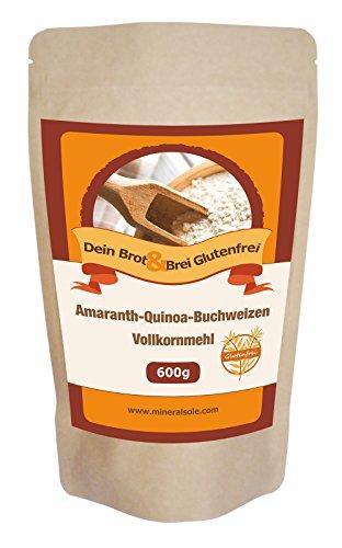 Brotbackmischung I 600g I Glutenfrei I Amaranth I Quinoa I Buchweizen I Pflaumen | VERSAND SCHNELL SICHER MIT DHL I KOSTENLOS IN DE