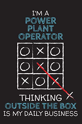 I'm a POWER PLANT OPERATOR: Thinking Outside The Box - Blank Dotted Job Customized Notebook. Funny Profession Accessories. Office Supplies, Work ... Retirement, Birthday & Christmas Gift. - Power-keychain