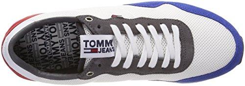 Hilfiger Denim Tommy Jeans Lifestyle Sneaker, Scarpe da Ginnastica Basse Uomo Bianco (Rwb 020)