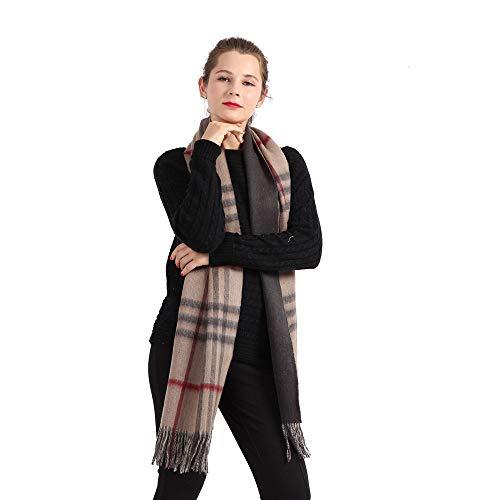 AiNaMei Bufanda tela escocesa gruesa otoño/invierno