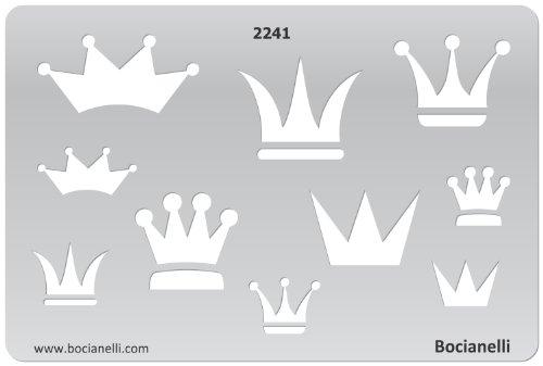 15cm x 10cm Normographe Plastique Transparent Trace Gabarit de Dessin Conception Graphique Art Artisanat Fabrication Bijoux Illustration - Couronnes Roi Reine Prince Princesse