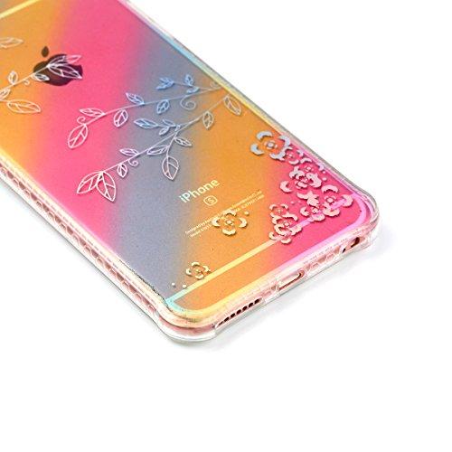 Custodia iPhone 6S 4.7 Cover iPhone 6,Ukayfe Ultra Slim Custodia Cover Resistenti per iPhone 6S,Colorato Placcatura Disegni Bella Vintage Elegante Casa Coperture Sottile Morbida Soft TPU Silicone Gomm Filiali