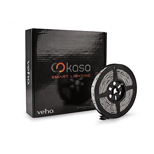 Veho Kasa Bluetooth Smart LED Lichtleiste | Smartphone gesteuert | Dimmbar | Farbwechsel | 10ft 3M Kleberückseite | 7.2W (VKL-001-3M) 001-smartphone