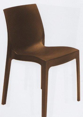 Grandsoleil Boheme Rome Greenpol Chaise empilable Vert, polymère, Blanc, 54 x 52 x 81 cm