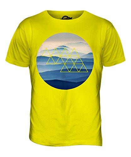 CandyMix Nebligen Bergen Herren T Shirt Zitronengelb