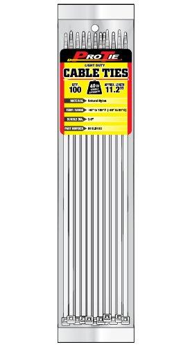 Pro Krawatte n11ld10028,5cm Light Duty Standard Kabelbinder, natur Nylon, 100Stück -