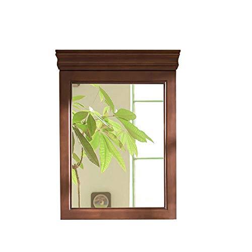 Bathroom mirror-Jack Amerikanischer Massivholz-Badezimmerspiegel Mit Einer Tür An Der Wand Befestigter Kosmetikspiegel, Walnuss Farbe -