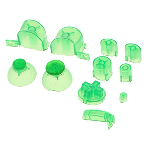 H HILABEE Ersatz ABXYZ Buttons + Thumbsticks D-Pad Mod Kit für Nintendo NGC Green -