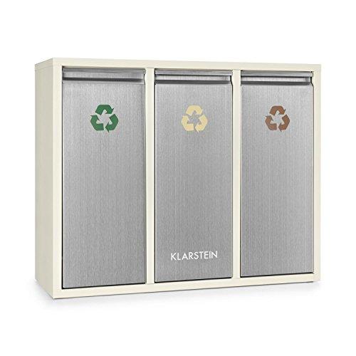 Klarstein Ordnungshüter 3 Cubos Basura Reciclaje