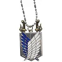 Collana delle ali della libertà - con spade estraibili - accessorio cosplay - dal mondo dei manga dark fantasy