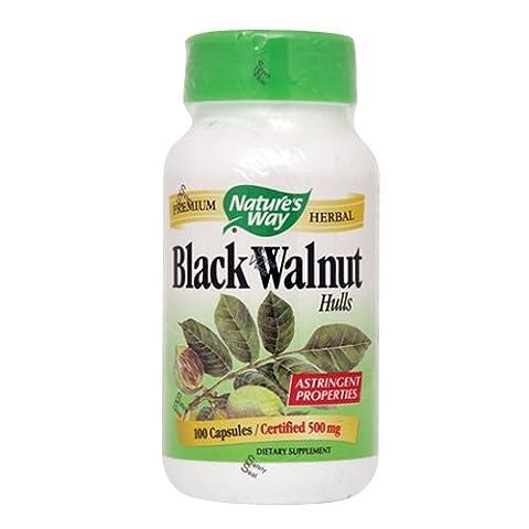 CAP. BLACK WALNUT 100CAP NATUR