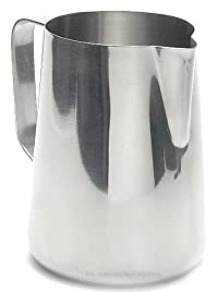 New Large 50 oz. (Ounce) Espresso Coffee Milk Frothing Pitcher, Steaming Frothing Pitcher, Stainless Steel (18/10 Gauge) (1, A)