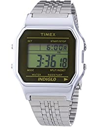 Timex Unisex-Armbanduhr Classic Digital Quarz Edelstahl TW2P58500