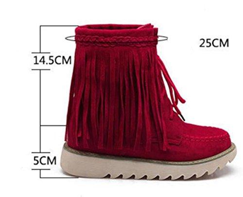 Autunno / Inverno Donne Donne Stivali Stivali Caricati Plus Cachemire Stivali Caldi Scarpe Casual Donna gray
