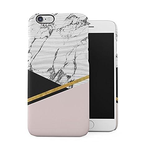 Vintage Cute Marbre D'or Rose Corail Coque Housse Etui De Protection Plastique Dur Ligne Profil Slim Pour iPhone 6 / iphone 6S Hard Plastic Case Cover