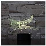 Lumière ambiante Avion et jouets d'avion Veilleuse 3D avec commandes tactiles/à distance à LED