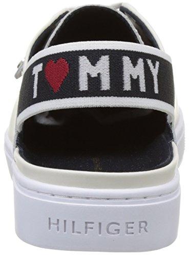 Tommy Hilfiger V1285enus 3a1, Scarpe da Ginnastica Basse Donna Bianco (White 100)