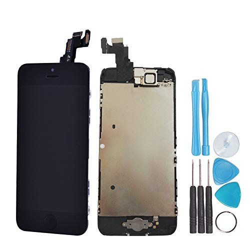 LL Trader Para iPhone 5c Negro Pantalla LCD digitalizador de pantalla táctil Full montaje lente de...