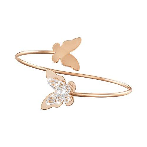 Stroili-Gioielli-Bracciale-bangle-farfalla-in-ottone-rosato-e-glitter