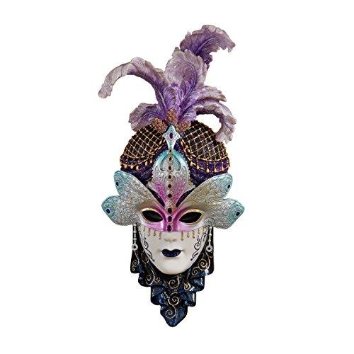 Design Toscano Die venezianische Maskerade, Skulpturale Wandmasken: Maiden del (Italienische Masken Maskerade)
