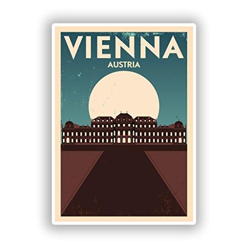 Preisvergleich Produktbild 2x Wien Österreich Vinyl Aufkleber Reise Gepäck # 10137 - 10cm/101mm Wide