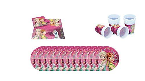 9896210912 ALMACENESADAN 1084, Pack Desechables Plus Fiesta y cumpleaños Disney Frozen;  16 servilletas, 12