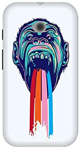 The Racoon Lean Tripping Chimpanzee hard plastic printed back case/cover for Moto E