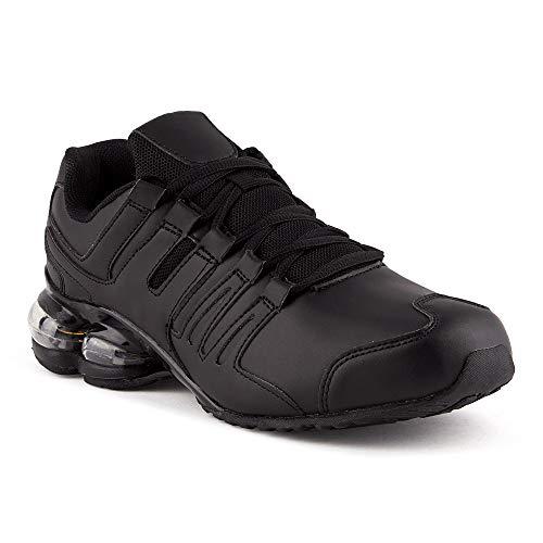 Fusskleidung Damen Herren Sportschuhe Dämpfung Neon Laufschuhe Gym Sneaker Unisex Schwarz EU 45