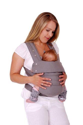 Marsupi Baby und Kindertrage I kompakte Bauch und Hüfttrage I L I Breeze / grau I genial einfach - 2