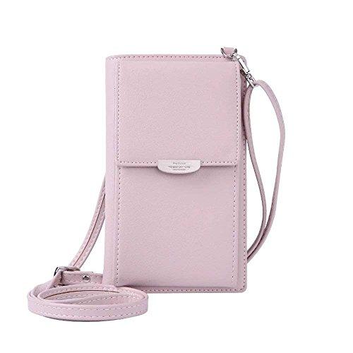 HMILYDYK Frauen Brieftasche Cross-Body Tasche Leder Geldbörse Handy Mini-Tasche Kartenhalter Schulter Brieftasche Tasche - Frauen Kreditkarte Brieftaschen