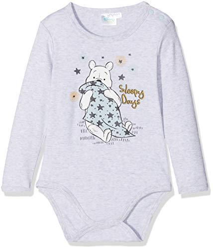 Disney Winnie l'ourson Baby-Jungen 2136 Body, Grau Gris, 0-6 (Herstellergröße: 6 Monate)