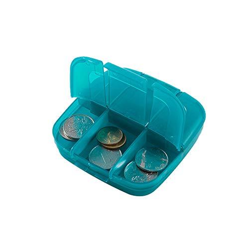 Tägliche Pille-spender (Vimbhzlvigour Pillen-Aufbewahrungsbox für Reisetabletten, Medikamenten-Spender, Organizer, Tasche)