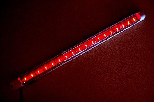 18LED 24V rot innen rot Light Lampe 400mm für Auto Van Bus Caravan SUV Truck On/Off Schalter -