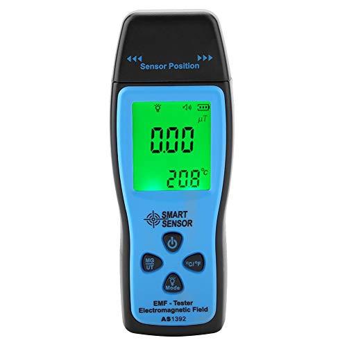SMART SENSOR Medidor EMF Detector de Radiación de Campo Electromagnético para Pruebas de radiación de campo eléctrico y magnético mG uT(AS1392)