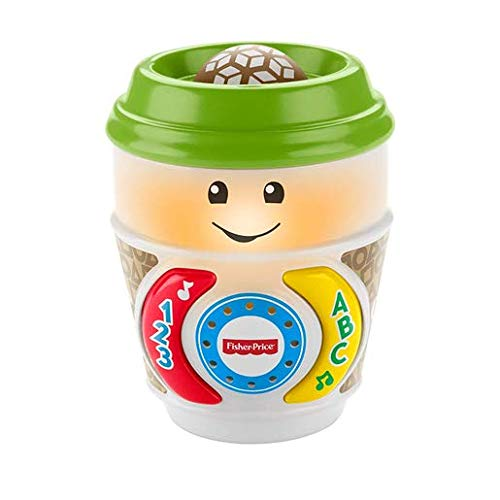 Fisher-Price GHJ04 Laugh & Learn On-The-Glow Taza de café, Juguete Interactivo para bebé, Multicolor