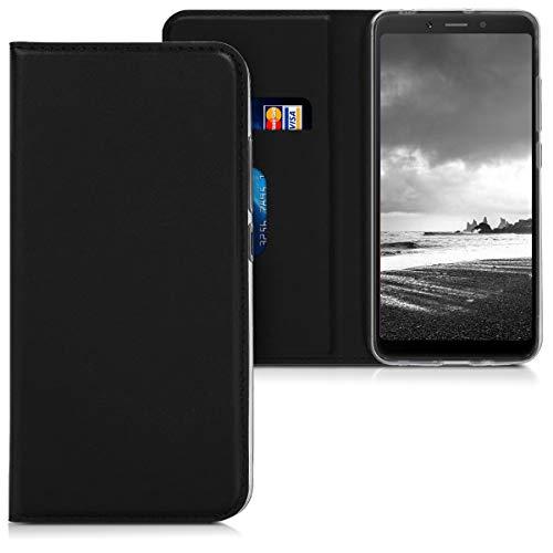 """kwmobile 46140.01 Funda para teléfono móvil 13,8 cm (5.45"""") Libro Black - Fundas para teléfonos móviles (Libro, Xiaomi, Redmi 6A, 13,8 cm (5.45""""), Black)"""