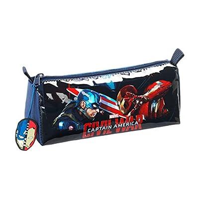 Capitán América Civil War Portatodo Lleno, 17 Piezas, Color Azul y Rojo de Capitán América