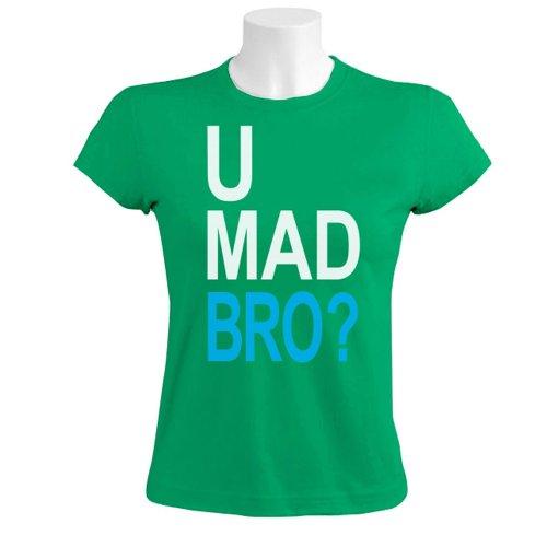U Mad Bro Grün XXL Frauen T-Shirt