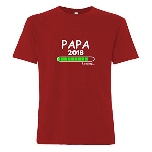 ShirtWorld Papa Loading 2018 - T-Shirt Rot
